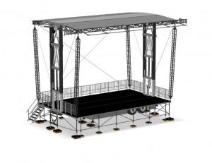 Scène mobile 80 m² - Devis sur Techni-Contact.com - 1