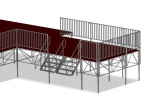 Scène traditionnelle modulable - Devis sur Techni-Contact.com - 2