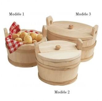 Seille patatière en bois blanc - Devis sur Techni-Contact.com - 1