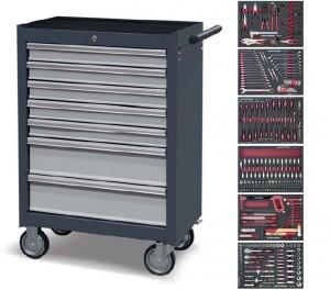 Servante d'atelier 7 tiroirs à 304 outils - Devis sur Techni-Contact.com - 1