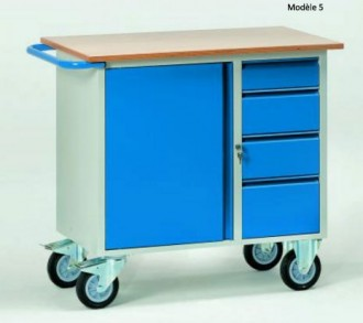 Servante d'atelier pour usage en continu Charge 250 à 400 kg - Devis sur Techni-Contact.com - 5