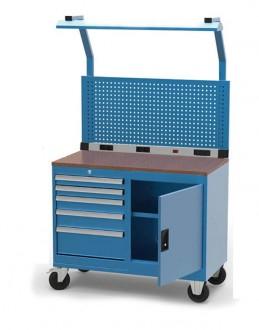 Servante établi 5 tiroirs à panneau accrochage - Devis sur Techni-Contact.com - 1