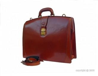 Serviette de luxe en cuir coloris havane clair - Devis sur Techni-Contact.com - 1