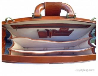 Serviette de luxe en cuir coloris havane clair - Devis sur Techni-Contact.com - 2