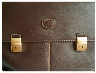 Serviette en cuir avec 2 serrures à clé - Devis sur Techni-Contact.com - 2