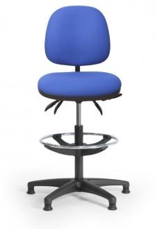 Siège de caisse ergonomique avec repose-pied - Devis sur Techni-Contact.com - 1