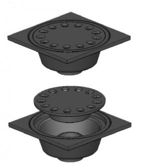 Siphon de cour carré C 250 - Devis sur Techni-Contact.com - 1