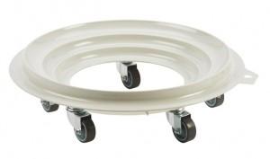 Socle rond 5 roues silence pivotantes chape acier - Devis sur Techni-Contact.com - 1