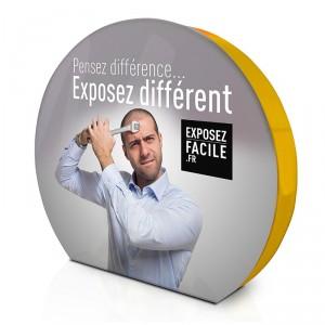 Stand avec visuel textile rond - Devis sur Techni-Contact.com - 1
