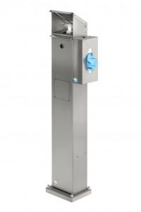 Station de désinfection avec support pour boite de gants masques mouchoirs - Devis sur Techni-Contact.com - 1