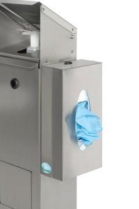 Station de désinfection avec support pour boite de gants masques mouchoirs - Devis sur Techni-Contact.com - 2