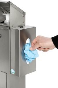 Station de désinfection avec support pour boite de gants masques mouchoirs - Devis sur Techni-Contact.com - 3