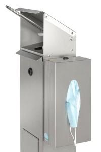 Station de désinfection avec support pour boite de gants masques mouchoirs - Devis sur Techni-Contact.com - 4