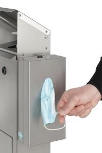 Station de désinfection avec support pour boite de gants masques mouchoirs - Devis sur Techni-Contact.com - 5