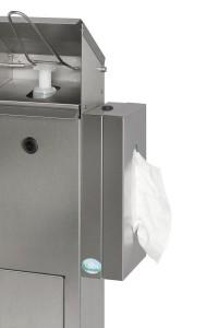 Station de désinfection avec support pour boite de gants masques mouchoirs - Devis sur Techni-Contact.com - 6