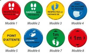 Stickers distances COVID - Devis sur Techni-Contact.com - 1