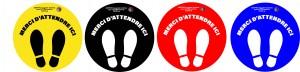 Stickers distanciation covid - Devis sur Techni-Contact.com - 2