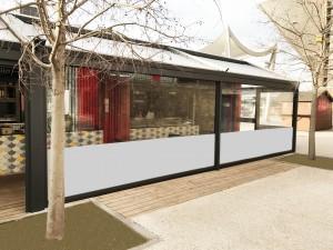 Store vertical ZIP en toile ou cristal transparent - Devis sur Techni-Contact.com - 2