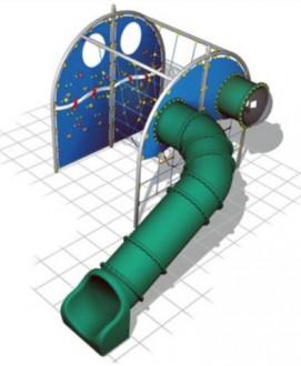 Structure de jeux avec toboggan tunnel - Devis sur Techni-Contact.com - 1