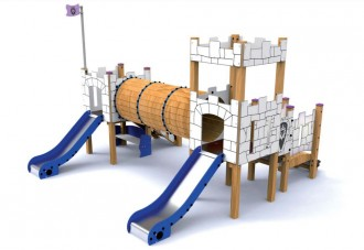 Structure de jeux avec toboggans Miengo - Devis sur Techni-Contact.com - 1