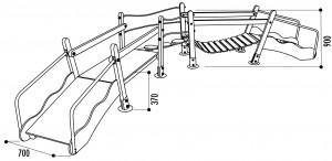 Structure de jeux double pont - Devis sur Techni-Contact.com - 2
