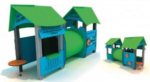 Structure ludique avec toitures - Devis sur Techni-Contact.com - 2