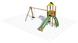 Structure multi-jeux avec tourelle - Devis sur Techni-Contact.com - 1