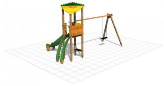 Structure multi-jeux avec tourelle - Devis sur Techni-Contact.com - 2