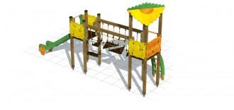 Structure multi-jeux bois - Devis sur Techni-Contact.com - 3