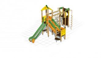 Structure multi-jeux bois pour enfants - Devis sur Techni-Contact.com - 1