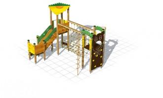Structure multi-jeux bois pour enfants - Devis sur Techni-Contact.com - 2