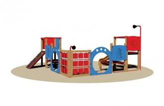 Structure multi jeux d'extérieur en bois - Devis sur Techni-Contact.com - 1