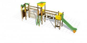 Structure multi jeux d'extérieur enfants - Devis sur Techni-Contact.com - 1