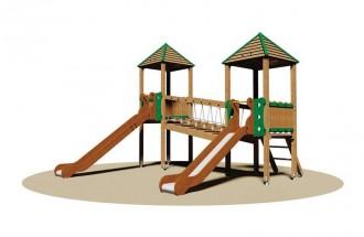 Structure multi-jeux d'extérieur enfants - Devis sur Techni-Contact.com - 1