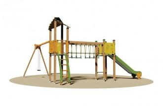 Structure multi jeux d'extérieur pour enfants - Devis sur Techni-Contact.com - 1