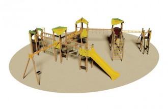 Structure multi jeux de plein air enfants - Devis sur Techni-Contact.com - 1
