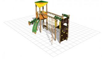 Structure multi-jeux en bois enfants - Devis sur Techni-Contact.com - 2