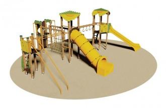 Structure multi-jeux en bois pour enfants - Devis sur Techni-Contact.com - 1