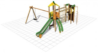 Structure multi-jeux plein air - Devis sur Techni-Contact.com - 1