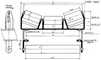 Support à rouleau auge - Devis sur Techni-Contact.com - 1