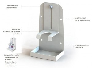 Support pour distributeurs de gel hydroalcoolique - Devis sur Techni-Contact.com - 3