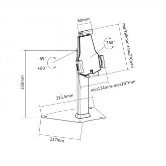 Support tablette sur pied - Devis sur Techni-Contact.com - 4