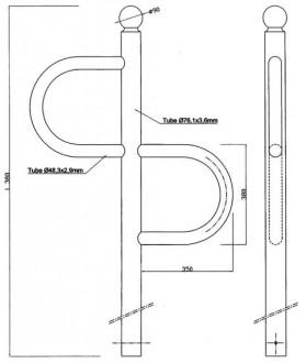 Support vélo 2 positions - Devis sur Techni-Contact.com - 2