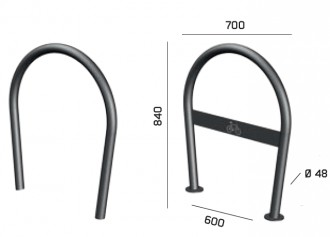 Support vélo rond - Devis sur Techni-Contact.com - 1