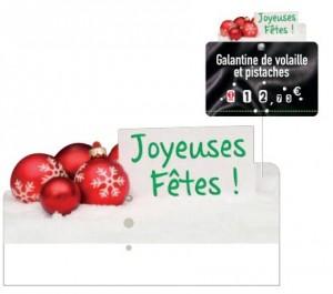 """Surmontoir étiquette """"Joyeuses Fêtes"""" - Devis sur Techni-Contact.com - 1"""