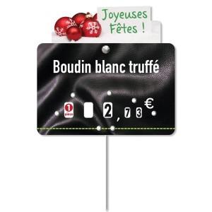 """Surmontoir étiquette """"Joyeuses Fêtes"""" - Devis sur Techni-Contact.com - 2"""
