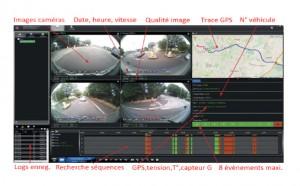 SYSTEME 360 COMPLET (4CAMERAS)   ECRAN 10 - Devis sur Techni-Contact.com - 1