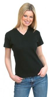 T-shirt personnalisé à col V pour femme - Devis sur Techni-Contact.com - 1