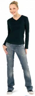 T-shirt personnalisé coton pour femme côte 1x1 - Devis sur Techni-Contact.com - 1