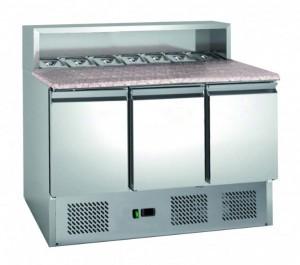 Table à pizza 3 portes réfrigération assistée - Devis sur Techni-Contact.com - 1
